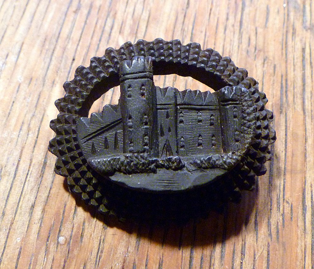 Antique Bog Oak Brooch