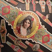SALE Fabulous Vintage Collection Of Cigar Bands