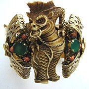 SOLD Amazing FOO DOG or DRAGON Cuff with Serpents!
