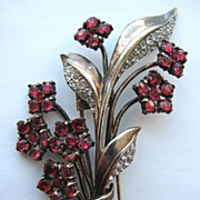SOLD Elegant 1940s TRIFARI Sterling Floral Bouquet Fur Clip!