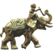 1940s Elephant with Boy Pin