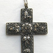 CZECH Marcasite Cross Necklace!