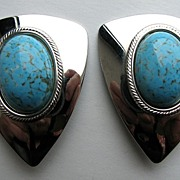 Nifty Faux Turquoise Bold Earrings!