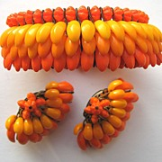 SALE PENDING Awesome Western GERMANY Bracelet & Earrings!