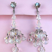 Dangling Aurora Borealis Swarovski Crystal Earrings!