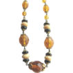 Nice 1920s-30s Art DECO Topaz & Black Beads Necklace!
