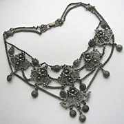 SOLD Scarcely Found Rice-Weiner INDO-CRAFT Ethnic Style 1940s Necklace!
