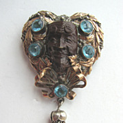 "On the Rare Side - Sylvia HOBE ""Bandora"" Sterling Gold Wash Face Pin!"