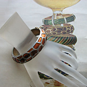 SOLD Terrific TRIFARI Giraffe Bangle Bracelet and Original Advertisement!