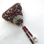 Austria Faux Ruby Pin!