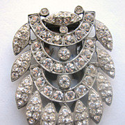 Rhinestone Encrusted Dress Clip 1920s