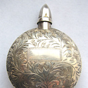 Sterling Silver Etched Perfume Bottle