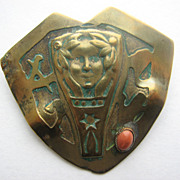 Arts & Crafts Era Pin Artist Signed