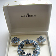 TRIFARI Rhinestone Pin & Earrings in Original Presentation Box