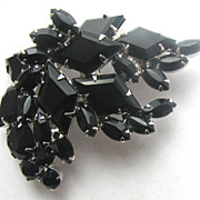 JULIANA (D& E) Black Kite Rhinestones Pin