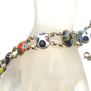 Art Glass Multi Colored Bracelet