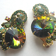 JULIANA(D & E) Watermelon Rivoli Rhinestone Earrings