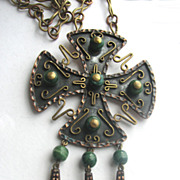 Bold MEXICO Mixed Metals Copper & Brass Cross
