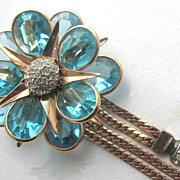 REIS Company 1940s Layered Glass Flower Pin