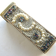 WEISNER Lipstick Case with Iris Rhinestones