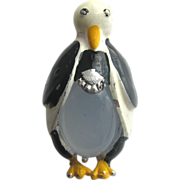 1940s Jelly Belly Figural Penguin Bird Fur Clip