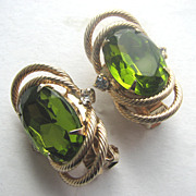 HOBE Olivine Rhinestones Earrings