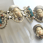 SELRO Exotic Faces Bracelet & Earrings