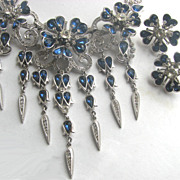 Crown TRIFARI Glamorous Rhinestones Necklace & Earrings