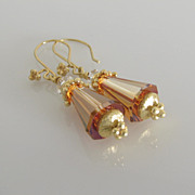 GORGEOUS - Crystal Copper - Swarovski Crystal - Artemis - Dangle Earrings