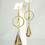 SOLD Ametrine & 24k Matte Gold Earrings