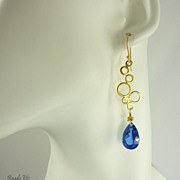 'Bubbles' Blue Topaz Vermeil Earrings