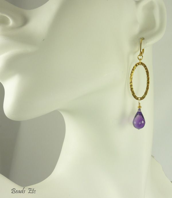 AAA Amethyst & 24k Gold Vermeil Earrings