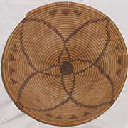 Native American Apache Indian Coiled Basket