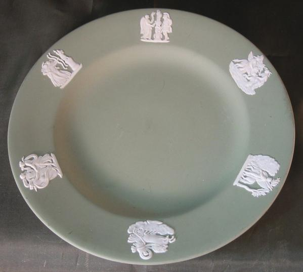 Wedgwood Sage Green Jasper Ware Dessert Plate