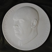 1950's Communist-era Meissen Bisque Plaque - Ernst Thaelmann