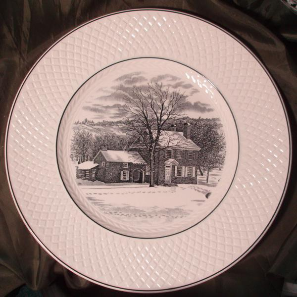 Copeland Spode Souvenir Plate - Washington's Headquarters at Valley Forge