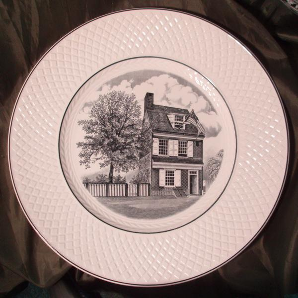 Copeland Spode Souvenir Plate - The Betsy Ross House