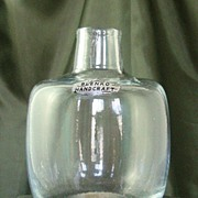 Blenko Candle-Vase #6424 in Crystal - Design by Joel Myers