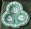Wedgwood Sage Green Dip Jasperware Club Sweet Dish