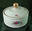 Lenox Round Candy Box with Floral Decoration - Blue Mark