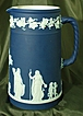 Large Wedgwood #6 Cobalt Blue Upright Dip Jasper Ware Jug