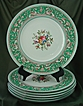 Wedgwood Green Florentine Dinner Plates - Set of Six