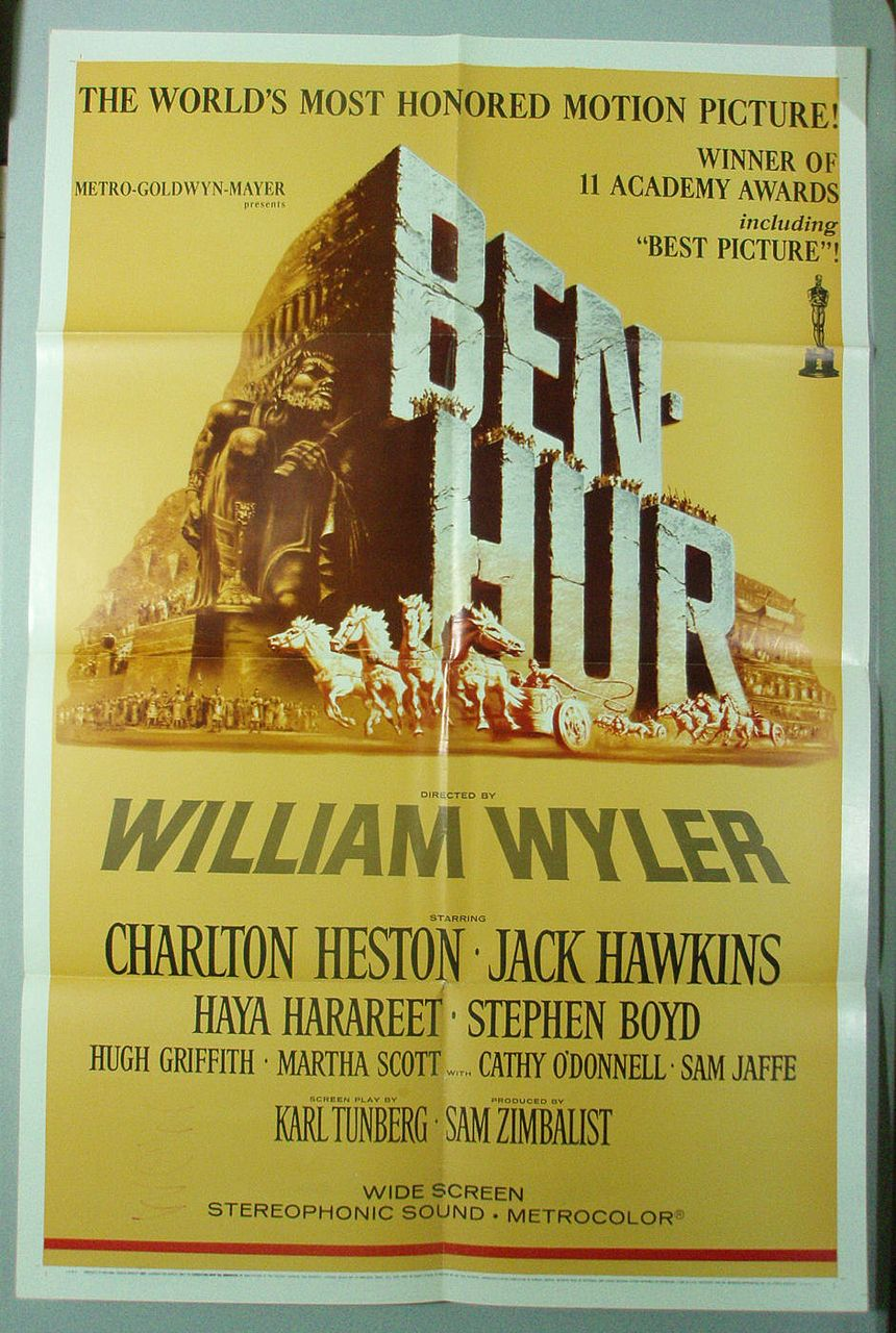 Ben Hur Original Theatrical Poster - 1969 Re-release