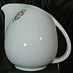 Hall China Sani-Grid White Rose Pitcher