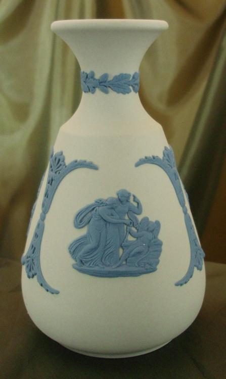 Wedgwood Reverse Jasperware Bottle Vase