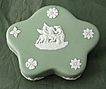 Wedgwood Sage Green Jasper Ware Pentefoil Box