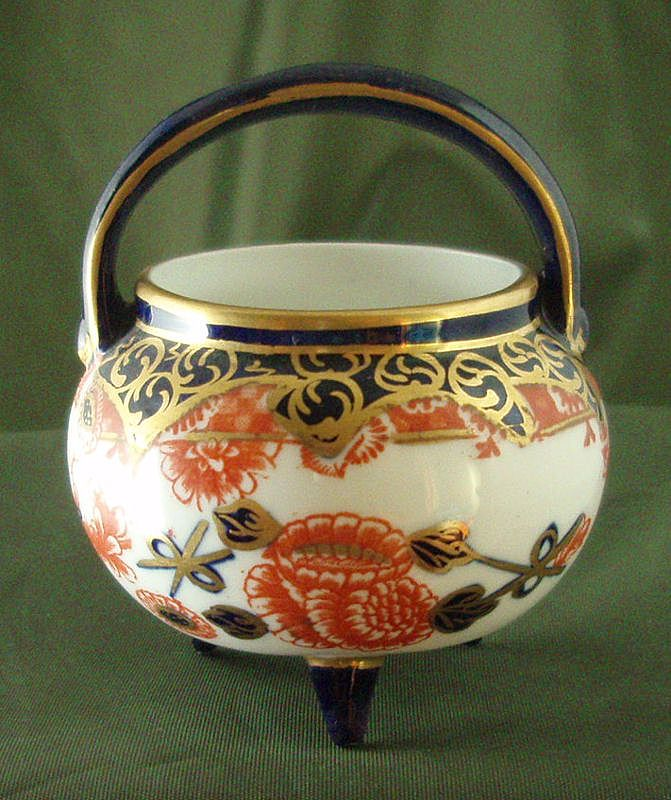 Royal Crown Derby Miniature Three-Toed Handled Kettle