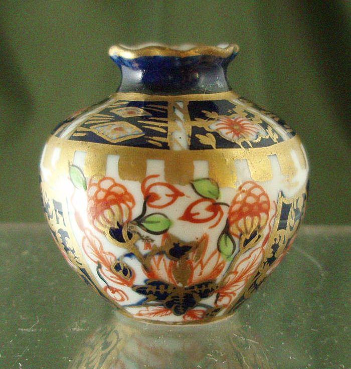 Royal Crown Derby Miniature Imari Vase