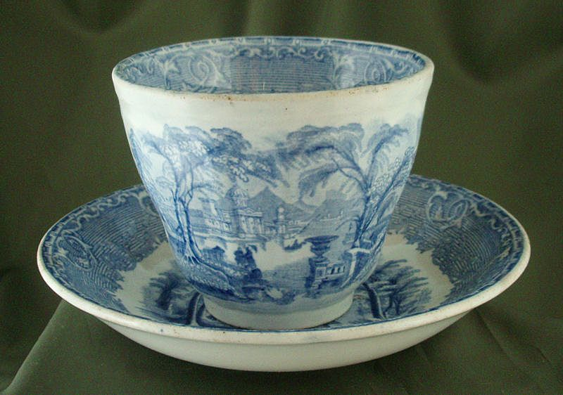 Wedgwood & Co Venus Transferware Tea Bowl & Saucer