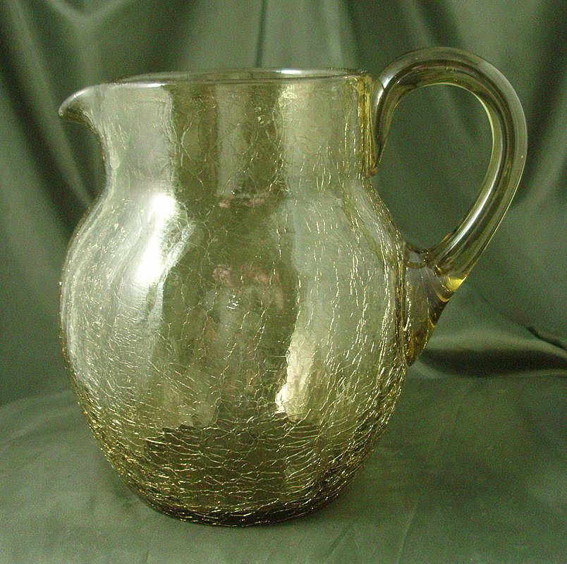 Tiffin/US Glass Craquelle Ware #117 Pitcher
